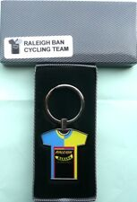 RETRO PRO BICYCLE RACING TEAM TOUR DE FRANCE KEY RING Raleigh Banana jersey