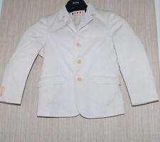 Marni  Off White Cotton Blazer Boys Sport Coat Size: 12 Years
