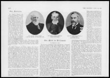 1904 Antique PORTRAIT Print - AUTHOR Samuel Smiles Scientist Henry Thompson (57)