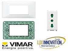 kit impianto elettrico vimar plana supporto 14613 presa 14203 e placca 14653.01