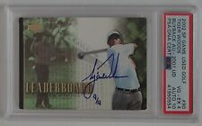2001 TIGER WOODS UD 2002 SP Game Used Golf Buyback S/N 9/9 RC PSA 10 AUTO POP 1