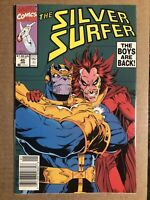 Silver Surfer #45 NEWSSTAND Marvel (1991) Thanos vs Mephisto Infinity Gauntlet