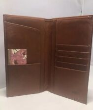 vintage Women's coach brown Large leather wallet Free Shipping