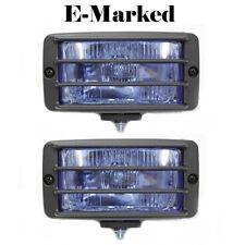 Universal Fog Spot Lights Blue Grille Light Car Van 4x4 Pick Up Offroad E-Marked