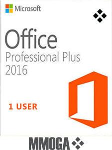 Office 2016 Professional Plus 1 Utente - Microsoft PC Versione Digitale Codice