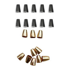 20x Bell Backpack Tent Clothes Lock Cord Ends Cap String Stopper Gold Silver