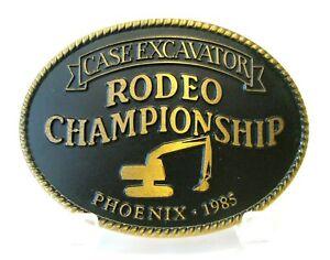 *Case Construction Excavator 1985 Rodeo Championship Phoenix Brass Belt Buckle