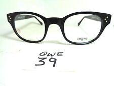 New LEGRE Eyeglasses Frame LE137 300 Black Round Horn Rim (QWE-39)