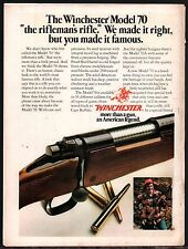 1976 WINCHESTER Model 70 RIFLE AD Firearms Advertising~Also appeared in 1977
