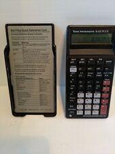Texas Instruments Baiiplus Financial Calculator