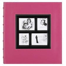 Benjia Photo Album 500 Pockets 6x4 Photos, Extra Large 500 Pockets, Pink 1