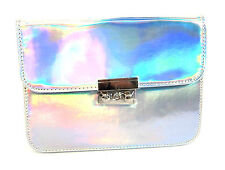 "LADIES ELLA SILVER HOLOGRAM HANDBAG ""72869"""