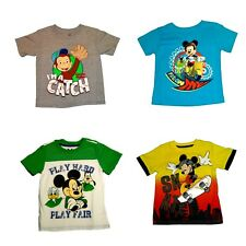 Boys'   T-Shirts  Disney Mickey Mouse Cycle Skateboard  Curious George  NWT
