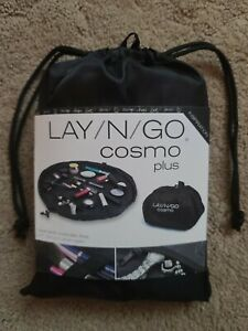 """NEW LAY-N-GO COSMO Plus 21"""" Cosmetic Bag Travel Organizer Washable Solid Black"""