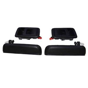 Interior Exterior Front Left & Right 4Pcs Door Handles For Toyota Tercel 95-1998