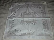 "6 Damask napkins Chrysanthemum 15"" sq New, Toyobo Japan Tag, 1950"