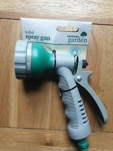 Kingfisher Hose Pipe Fittings Nozzle Connectors Spray Gun Garden Water 6 Dial