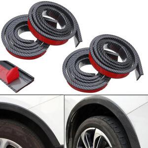 4X 4.9ft Carbon Fiber Universal Car Wheel Fender Flares Moulding Protector Lip