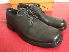 Men's Kenneth Cole Unlisted lace up Oxfords Chocolate genuine leather Brown 12 M