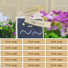 """Lots Useful 80Pc """"Hand Made"""" Self Adhesive Stickers Kraft Seal Paper Label Gift"""