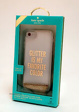 Kate Spade iPhone 7 Clear Liquid Glitter Case Glitter Is My Favorite Color