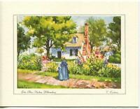 VINTAGE VIRGINIA JOHN BLAIR KITCHEN HOUSE GARDEN PRINT 1 BROOK TROUT FISH CARD