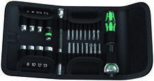 Wera Tools últimos izquierda Kraftform Compacto Zyklop 1/4 DR Trinquete Conjunto de Bits del controlador