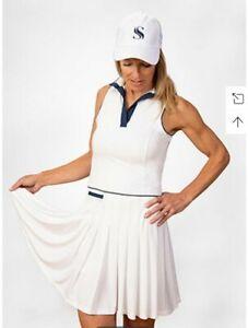 NWT Scratch Seventy Women GOLF athletic dress White xs Pleated Skirt Natalie