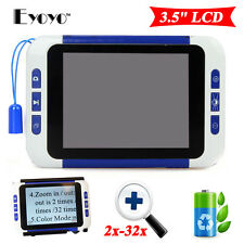 """3.5"""" LCD 32x Portable Electronic TV Digital Magnifier Reading Aid for Low Vision"""