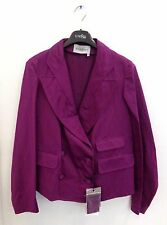 New YSL $1,444 YVES SAINT LAURENT FUCHSIA DOUBLE-BREASTED BLAZER JACKET 36 US 0