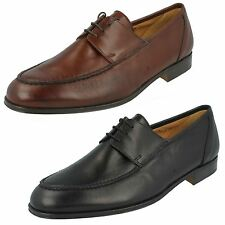 100% Leather Lace-up Square Formal Shoes for Men
