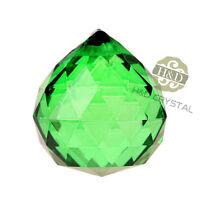 5 Green Crystal Chandelier Lamp Ball Prism Suncatcher Pendant Wedding Decor 20mm