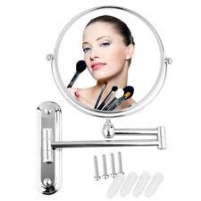 Chrome 10 x Extending Magnifying Bathroom Make Up Shaving Wall Vanity Mirror