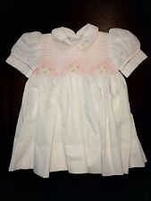 Cute Baby Girls Little Diana Boutique Dress Size 6 Months White/Pink Floral NWOT