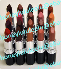 MAC SATIN Lipstick Choose From 26 Color Full SZ New Box Unseal Authentic Red Rio