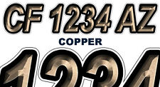 COPPER Custom Boat Registration Numbers Decals Vinyl Lettering Stickers USCG