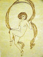 Balfour NUDE LADY JUMPING ROPE 1920 Art Deco Print Matted