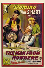 William S. Hart The man from nowhere 1915 movie poster