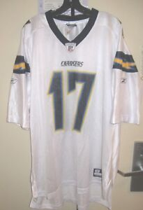 Los Angeles Chargers NFL Reebok Classic White Philip Rivers #17 2XL Jersey