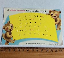 Vintage Colour Get Well Secret Message Postcard