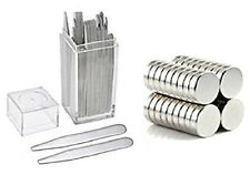 """20 Count Metal Collar Stays 2.7"""" + 10 Magnets For Men In Clear Plastic Box"""