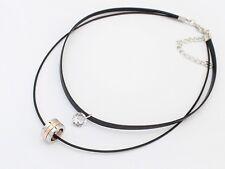Retro Doppio Girocollo Semplice in Pelle Doppio Colletto Collana Fashion Jewellery HOT