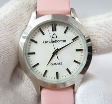 LIZ CLAIBORNE, Stainless Steel, Pink Leather Band, Cute, Lady's /Teen,WATCH,1847