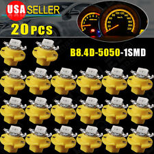 20 X T5 B8.4D Amber Yellow LED Speedo Dashboard Dash Wedge Side Light Bulb Lamp