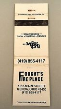 Matchbook Cover ~ FOUGHT'S FIRE PLACE Buck Stove Genoa OH Rear Strike 20 Daven