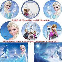 Tortenaufleger Tortenbild Geburtstag Disney Frozen Eiskönigin Elsa ohne Text