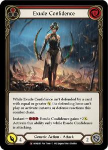 Flesh and Blood - MON245: EXUDE CONFIDENCE (RAINBOW FOIL/MAJESTIC/UNLIMITIERT)