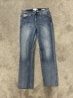 Skinnygirl Jeans The Rail Straight Missy Size 29 Blue High Waisted Straight Leg