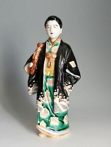 ANTIQUE MEIJI PERIOD JAPANESE PORCELAIN HANDPAINTED GEISHA FIGURE