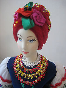 _ Very Nice Ukrainian HAND MADE Porcelain Doll